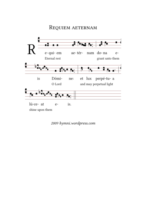 Introit for a requiem mass